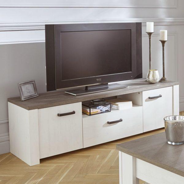 Houten Tv Meubel Wit.Tv Meubel Marquis 147 7cm Wit Bruin Andersen Pine