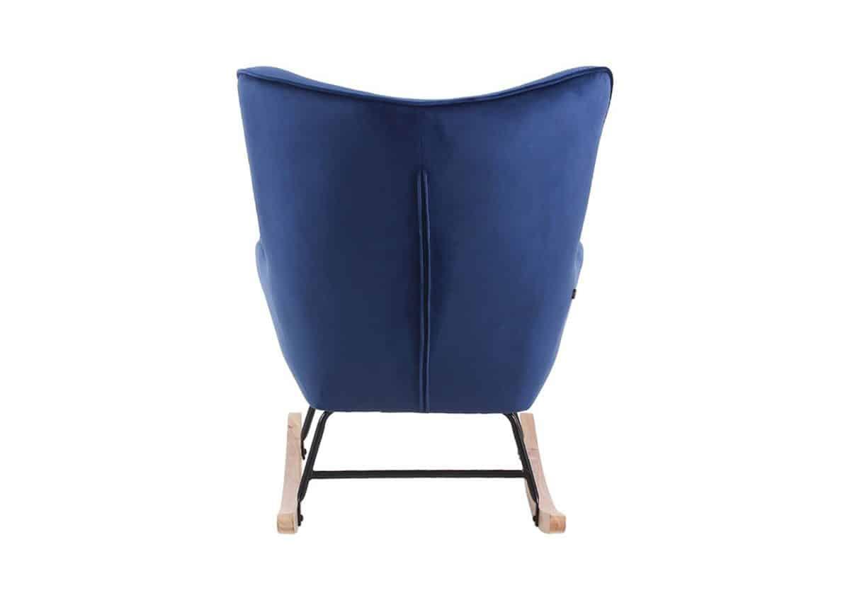 Schommelstoel Steerne - Velours / Velvet stof - Blauw
