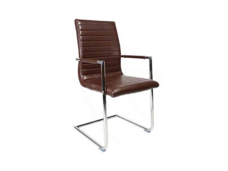 Stoel Metalen Frame : Bars eetkamer stoel met verchroomd metalen frame u2013 chocolade bruin