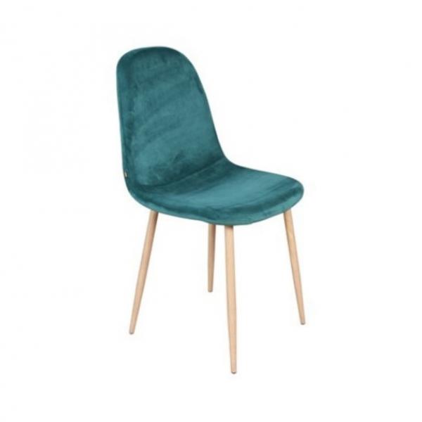 Velvet stoelen - Groen, blauw, roze - Metaal en Stof