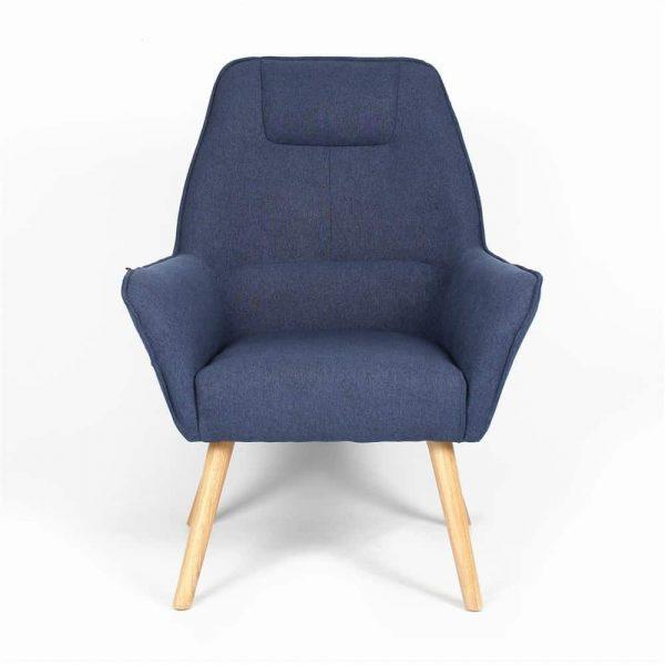 Fauteuil Copenhagen design - Grijs/Blauw
