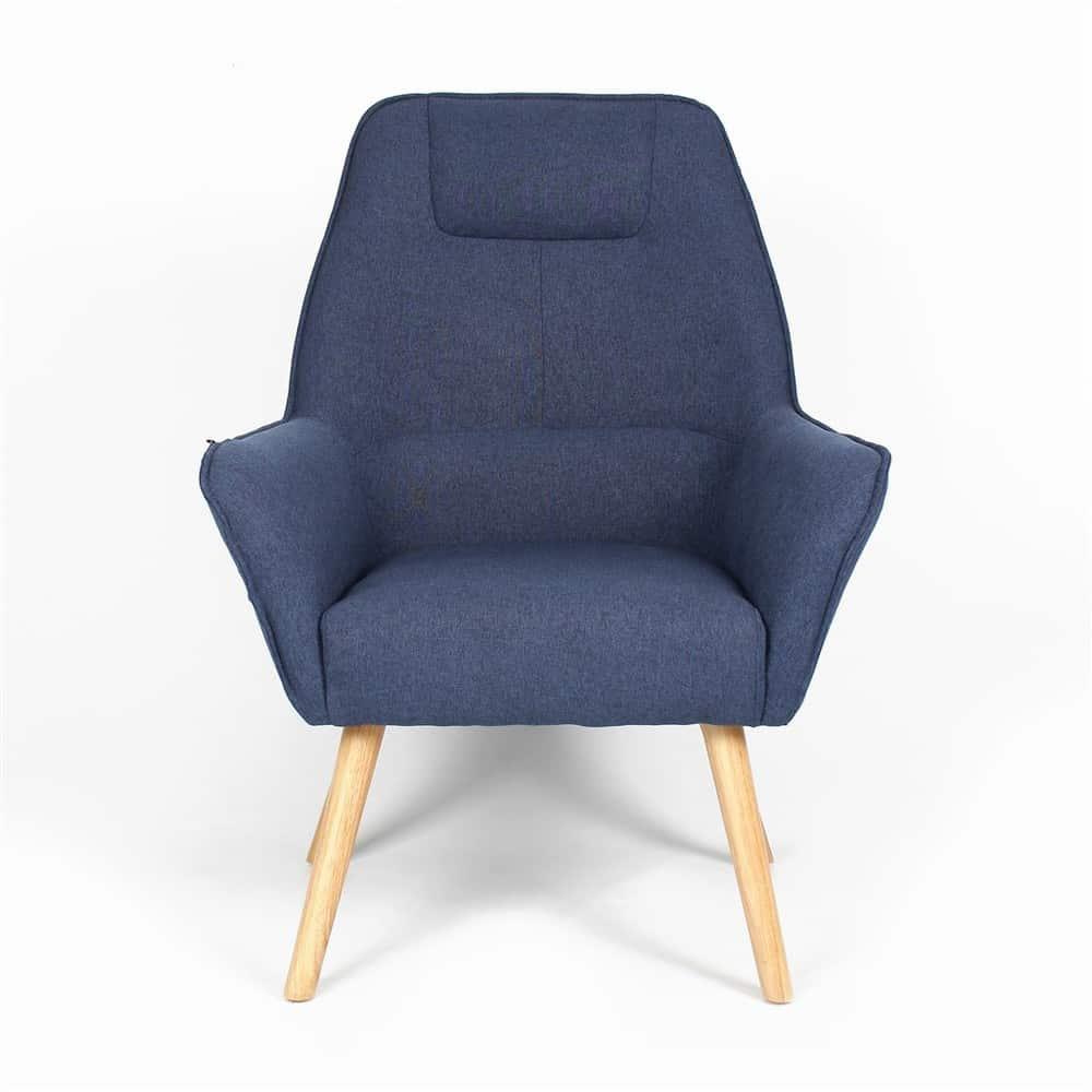 Fauteuil Blauw Grijs.Fauteuil Copenhagen Design Grijs Blauw Furndaily