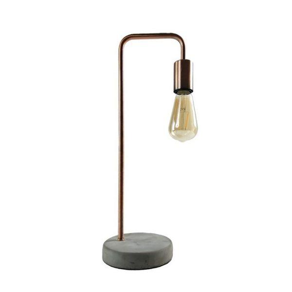 Tafellamp Vera inclusief Edison lamp - Koper/ beton
