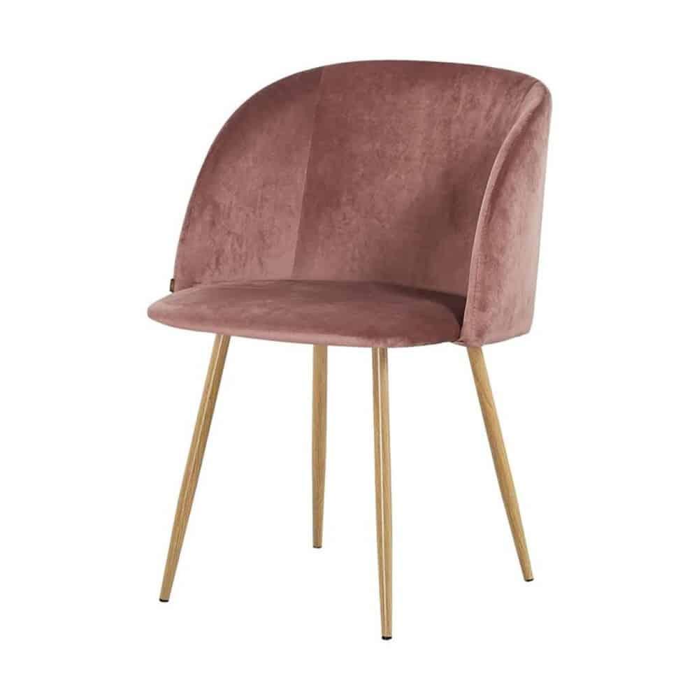 Ongekend Eetkamerstoel Ingo – Velours / Velvet stof – Roze – Furndaily EH-72