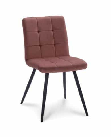 Ongekend Eetkamerstoel Twist Velvet Velours Oud roze stoel – Furndaily LI-54