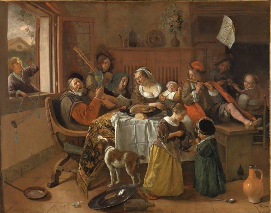 Schilderij the merry family dibond aluminium