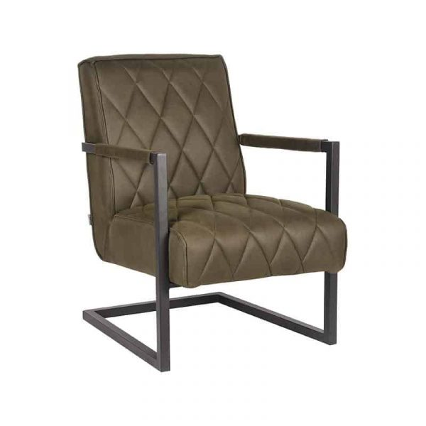 LABEL51 - Fauteuil Denmark - Microvezel - Army