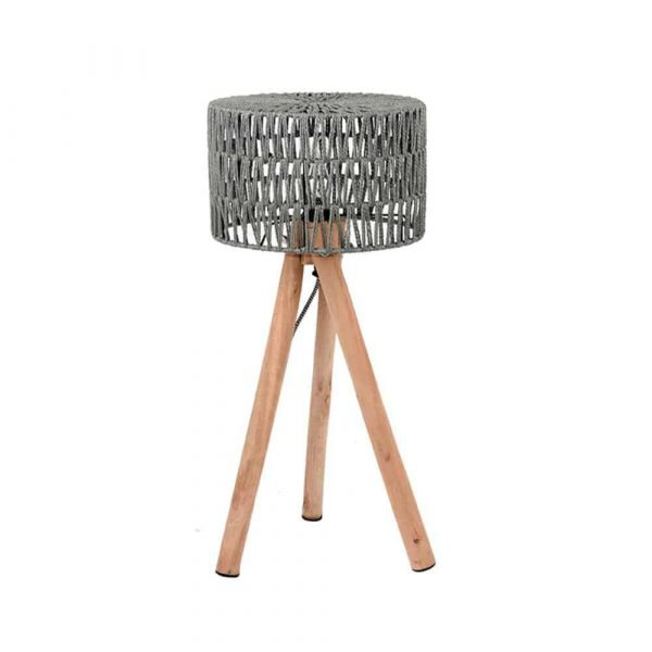 LABEL51 - Tafellamp Stripe - Grijs - 32 cm
