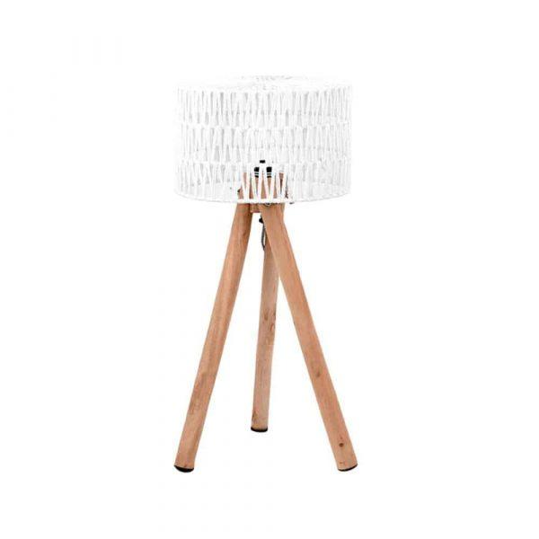 LABEL51 - Tafellamp Stripe - Wit - 32 cm