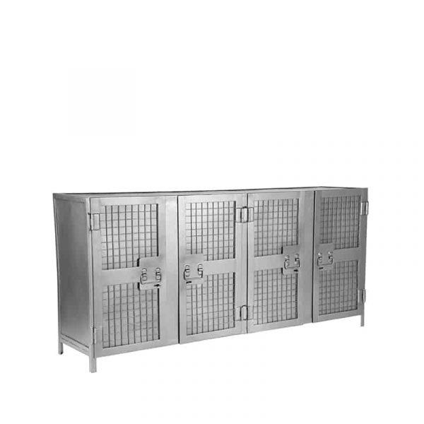 LABEL51 - Dressoir Gate - Vintage Metaal - 170 cm