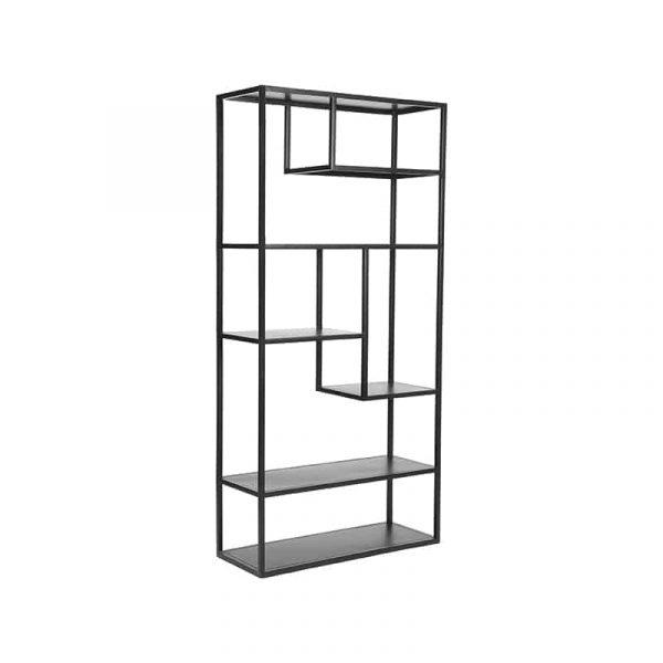 LABEL51 - Hoge Kast Vigor - Zwart - 182 cm