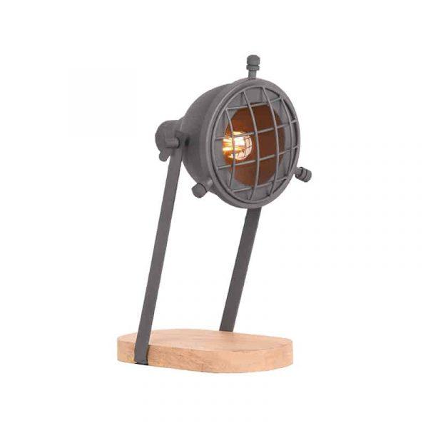 LABEL51 - Tafellamp Grid - Grijs - Mangohout