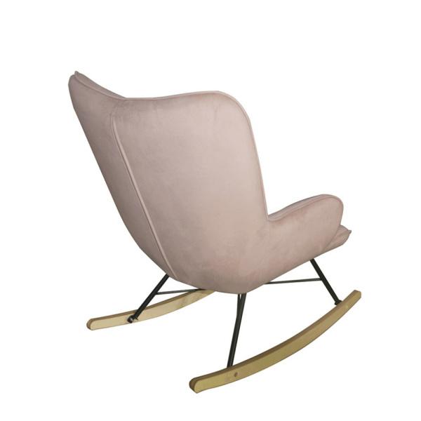 schommelstoel cherub roze