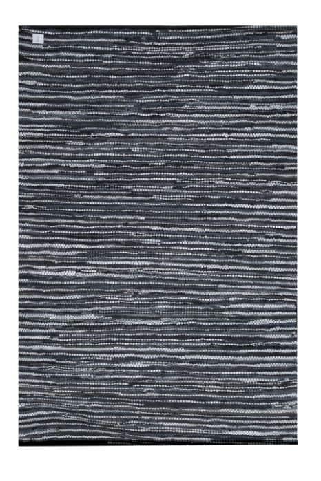 Moods-Collection -Vloerkleed leer zwart wit 160/240