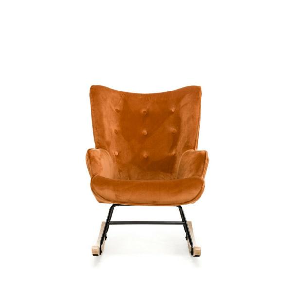 schommelstoel steerne koper velvet