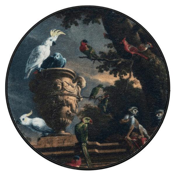 Rond vloerkleed - kunstwerk Menagerie - Aemely