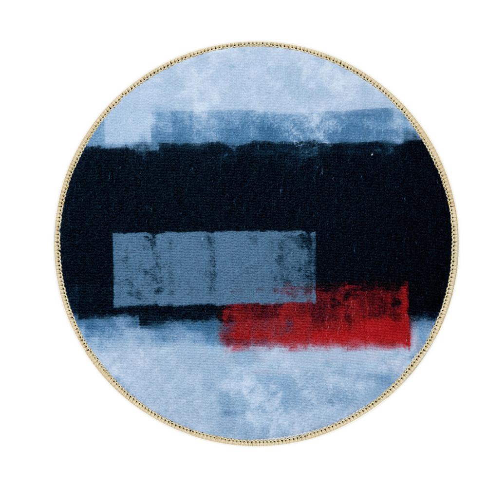 Rond vloerkleed 200cm - Modern/abstract rood zwart