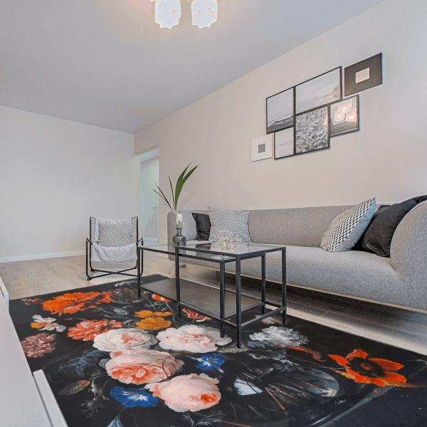 Aemely karpet/ vloerkleed Bloemen klassiek