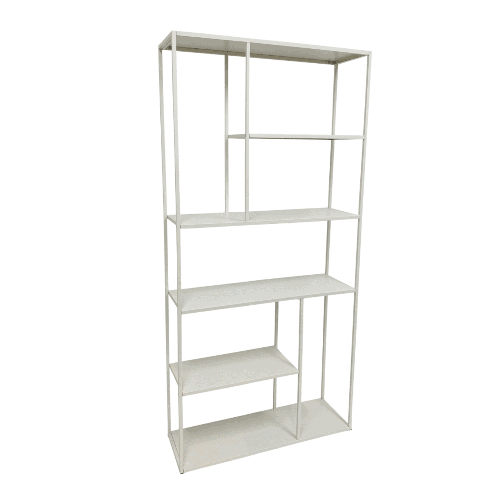 Kast 'Alice' 188 cm - wit staal