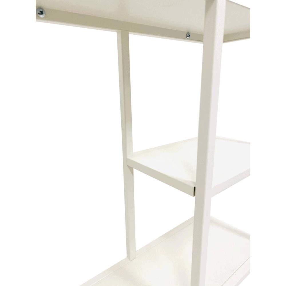 Wandrek 'Dani' 90 cm – Wit staal