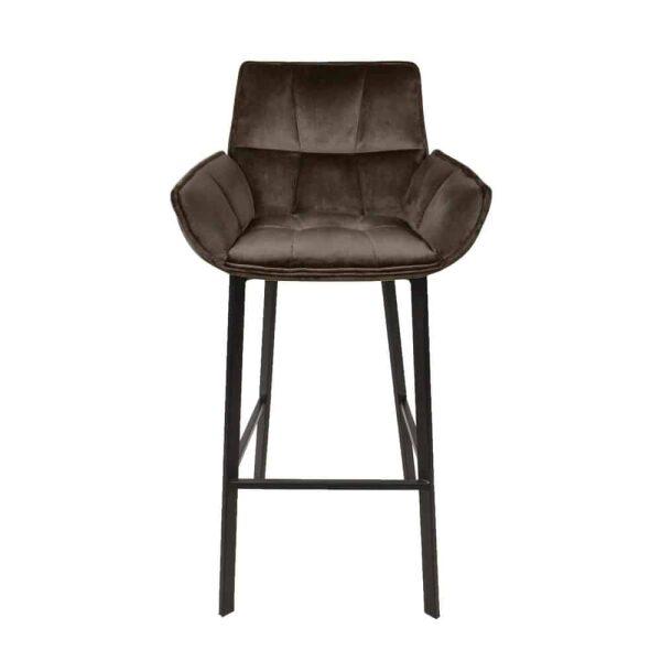 Moods-Collection – Barkruk MRS velvet bruin - Set van 2