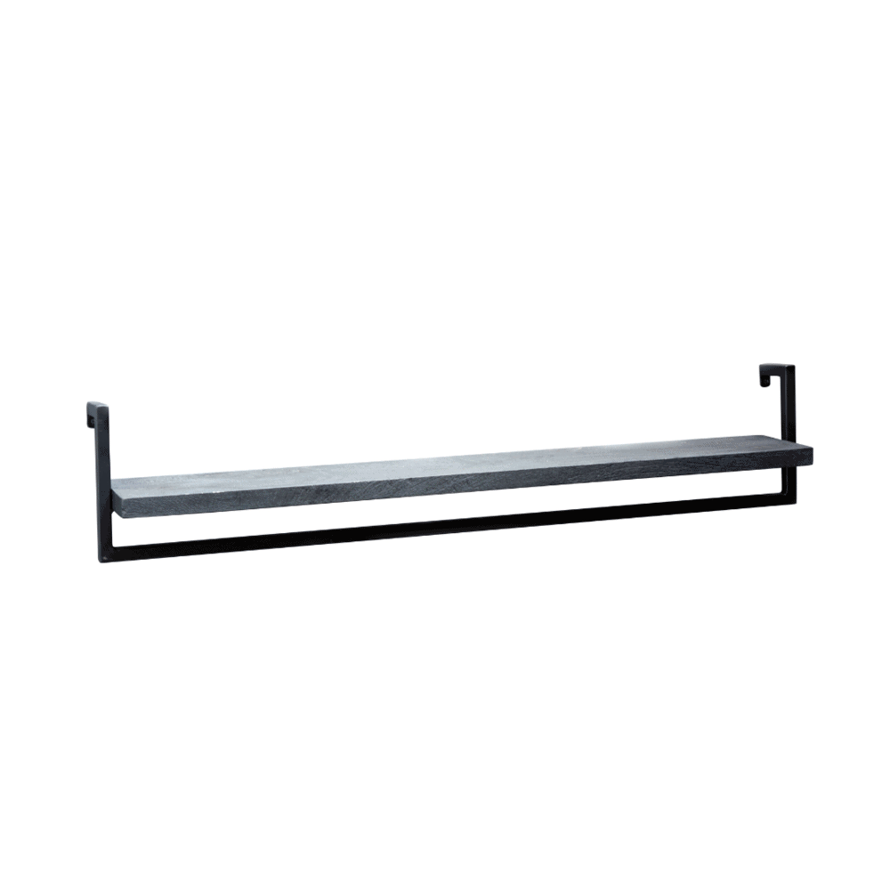 XL Wandrek - zwart mangohout - zwart staal