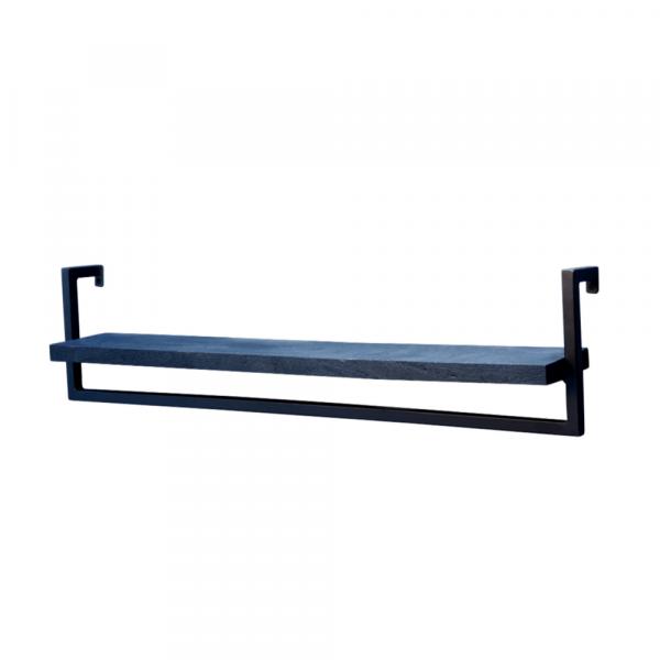 L Wandrek - Zwart mangohout - Zwart staal