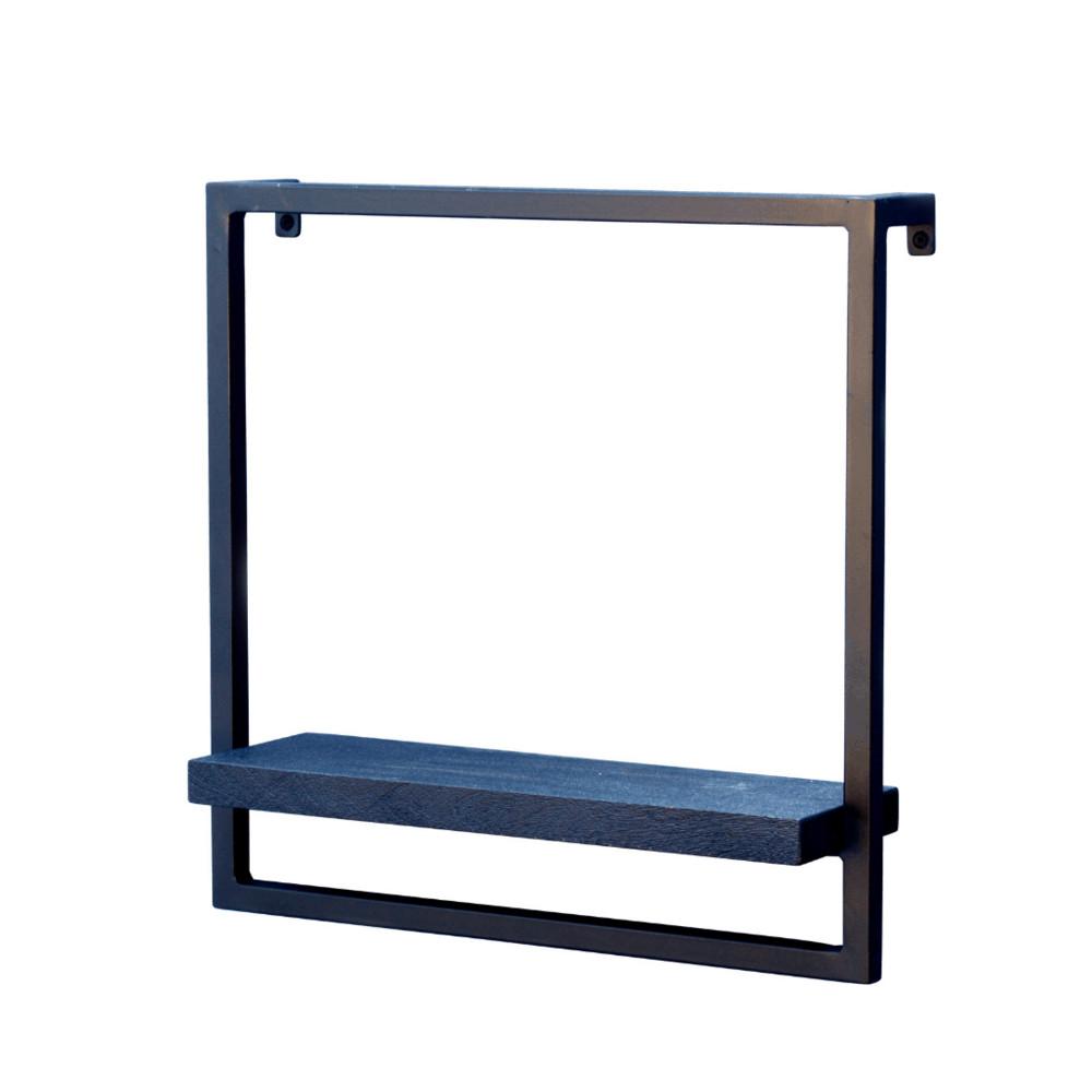 S Wandrek - Zwart mangohout - Zwart staal