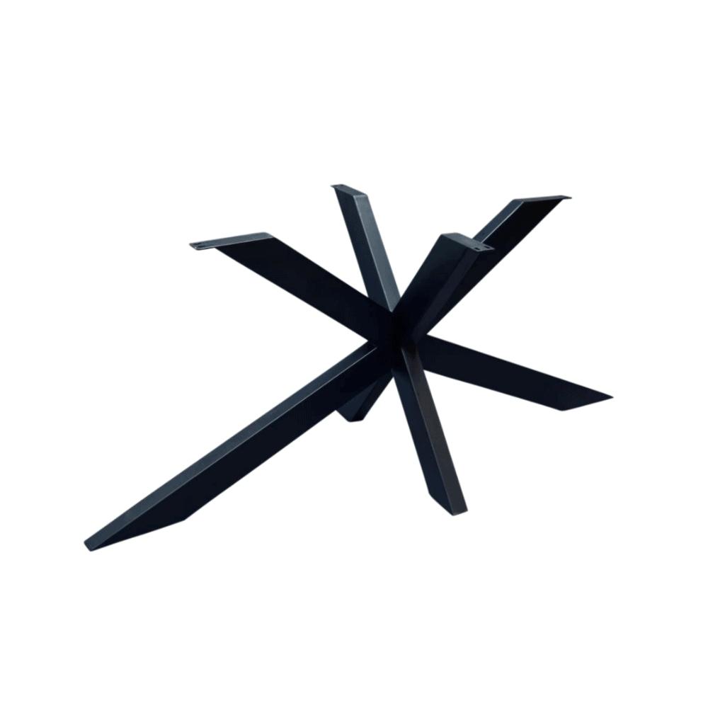 Eettafel - Vissengraat - ovaal -Zwart staal