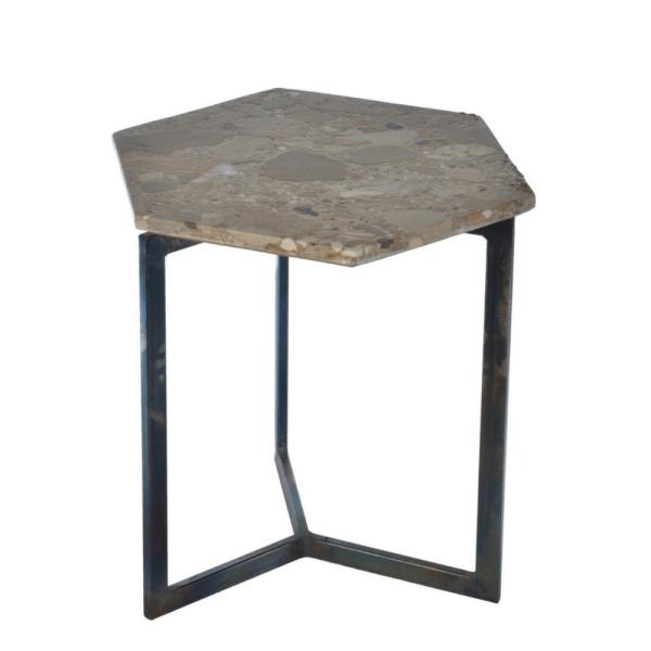 Zeshoekige tafel - Marmer steen