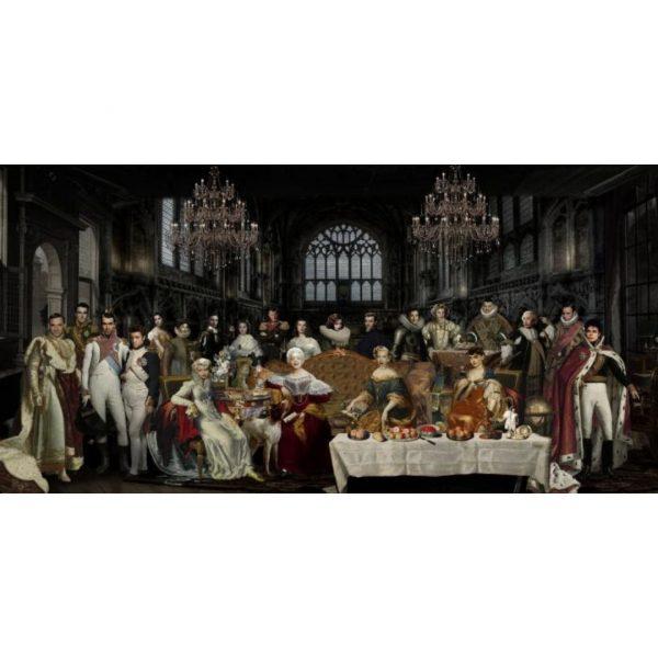 Glasschilderij doe ouderwetse groep schildereij160x80cm