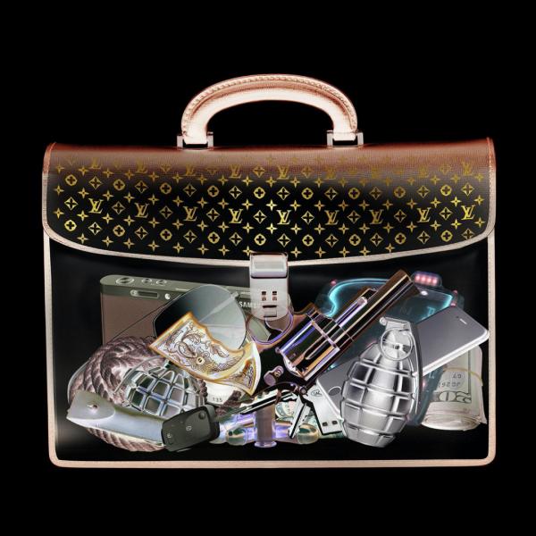 glasschilderij - Louis Vuitton tas