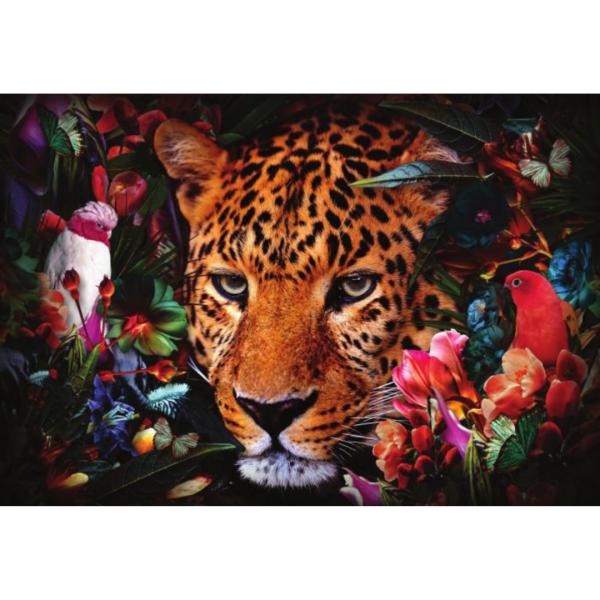 glasschilderij - tijger