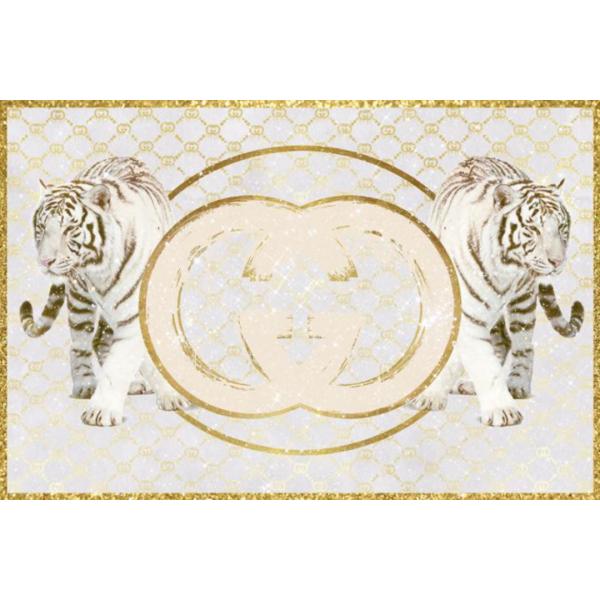 glasschilderij - tijger Gucci