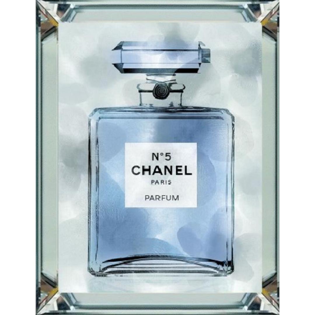 spiegellijst - Chanel parfum blauw