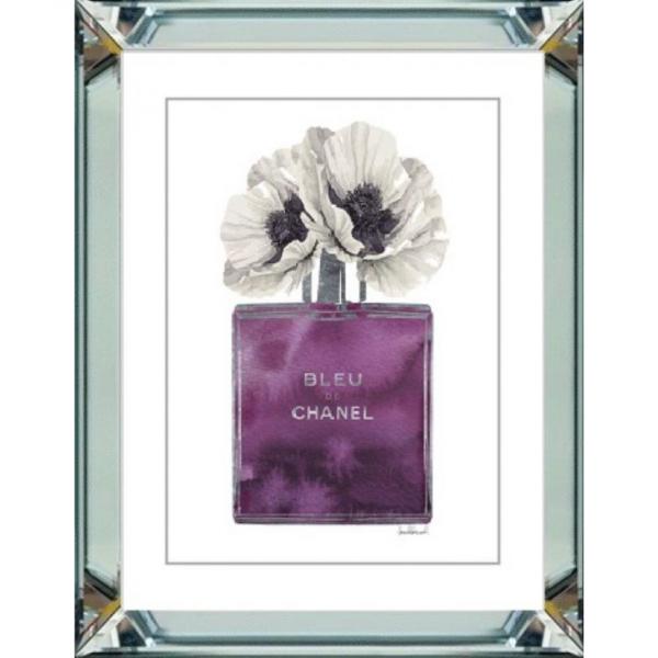 spiegellijst - Chanel parfum witte bloemen
